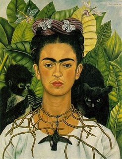 Frida with monkeys