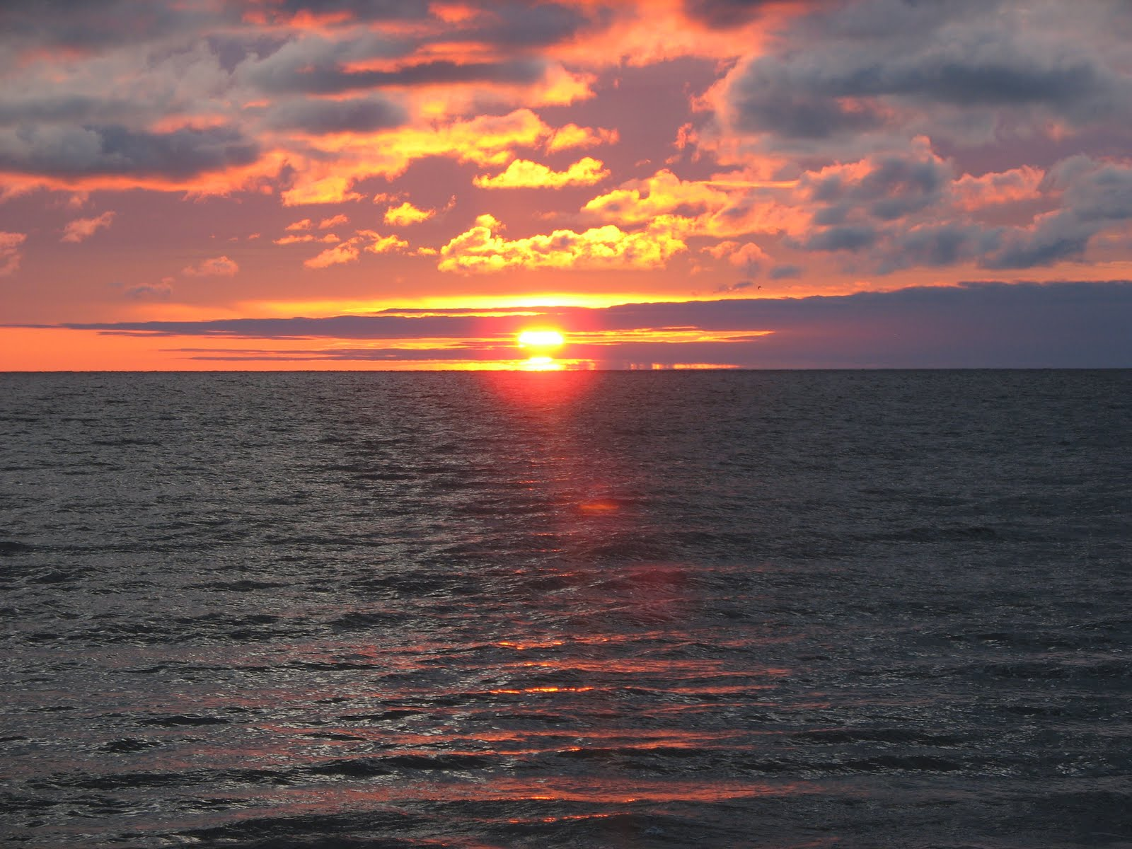 sunrise over lake winnipeg