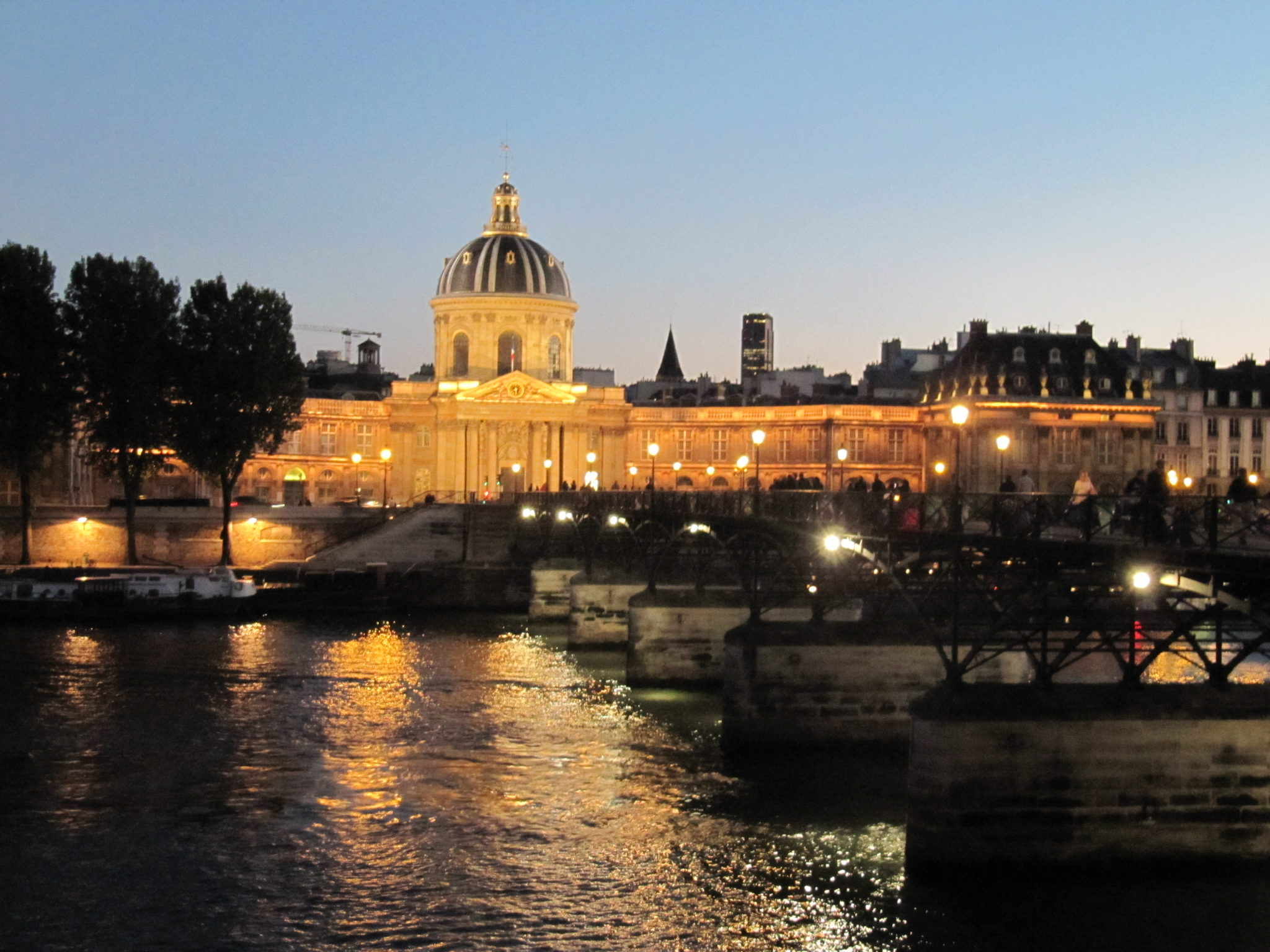 The River Seine at night.