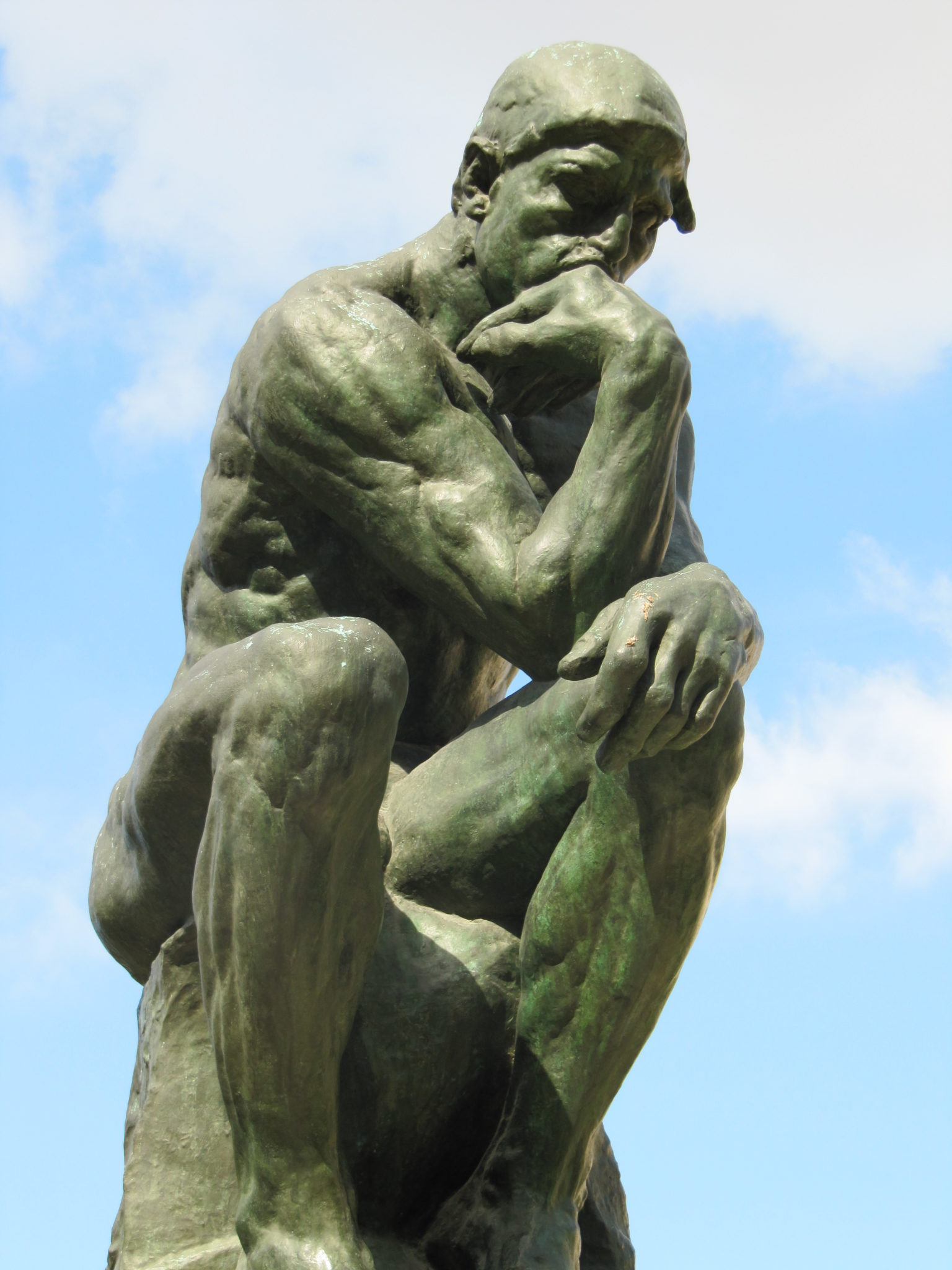 The Thinker by Auguste Rodin at the Rodin Museum.