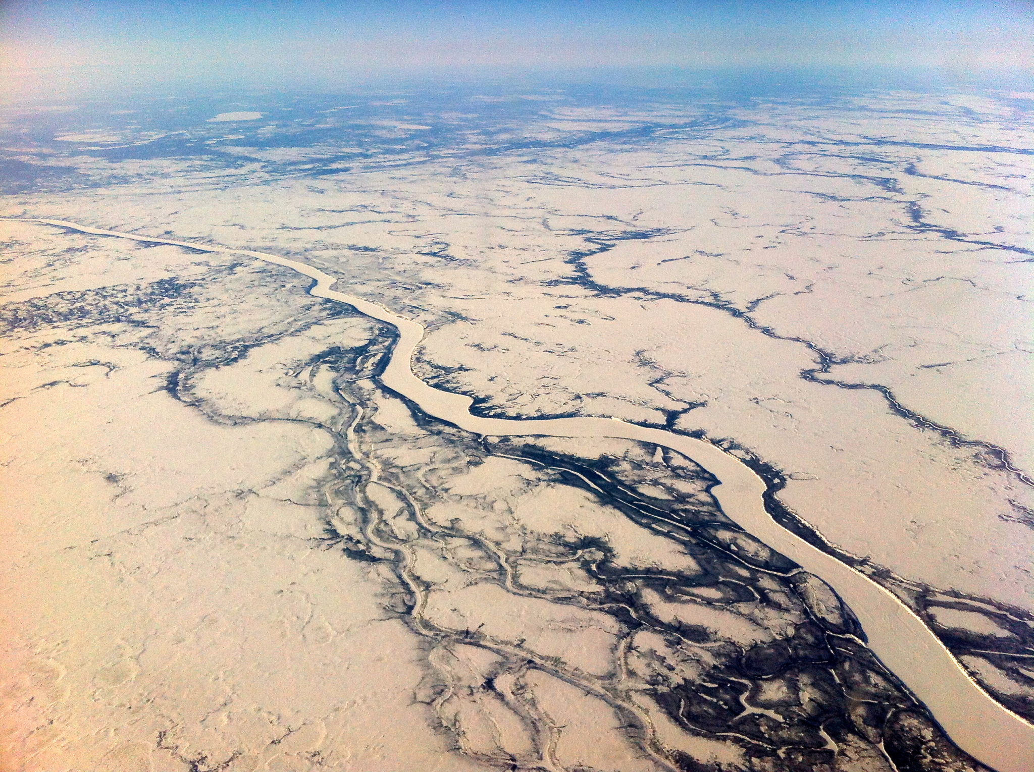 View of the Churchill River from the plane.