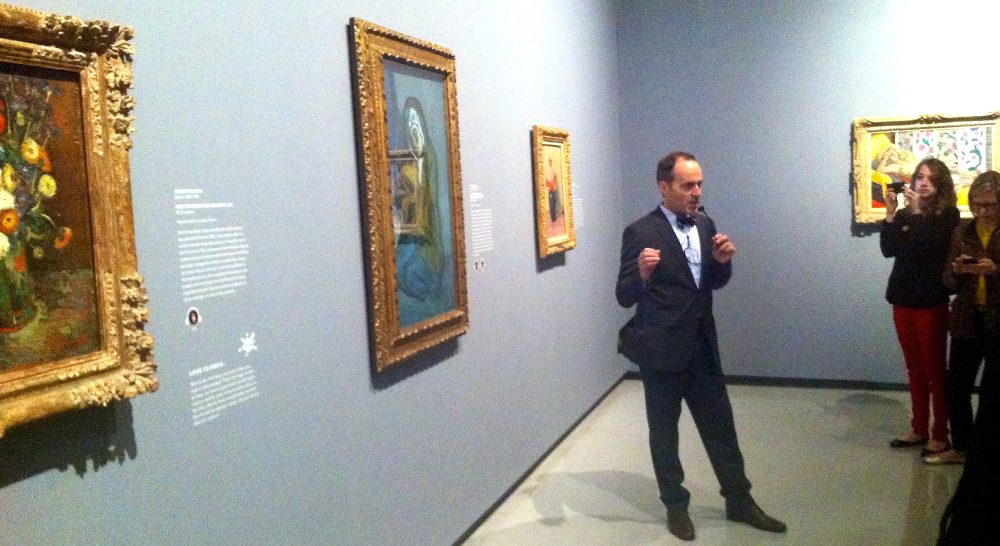 Oh, just standing around a Van Gogh, Picasso and Matisse.