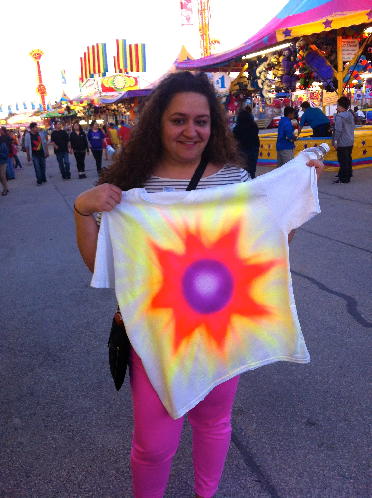 Anna's fancy shirt. Specially airbrushed for her.