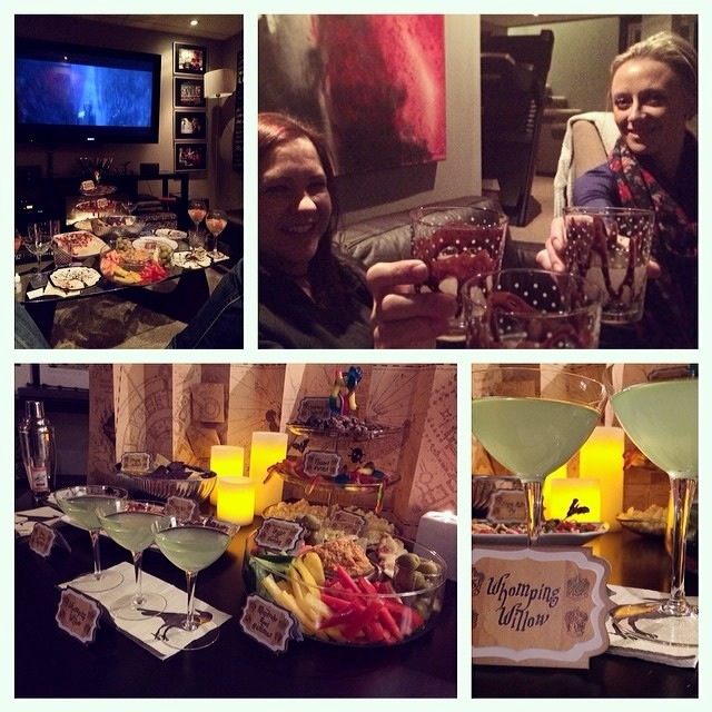 Lindsay's fun compilation of the night. Potter, friends, drinks and food. Awesome.