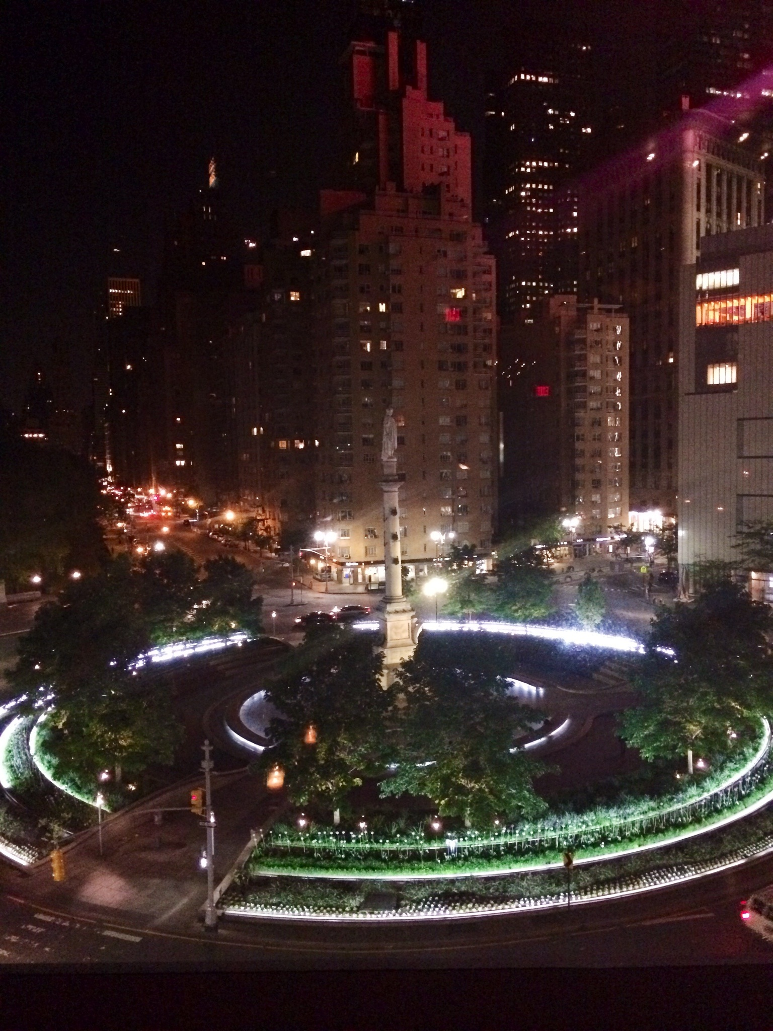 At the Stone Rose Lounge in the Time Warner building. Food and service was crap, but the DJ and view were great.