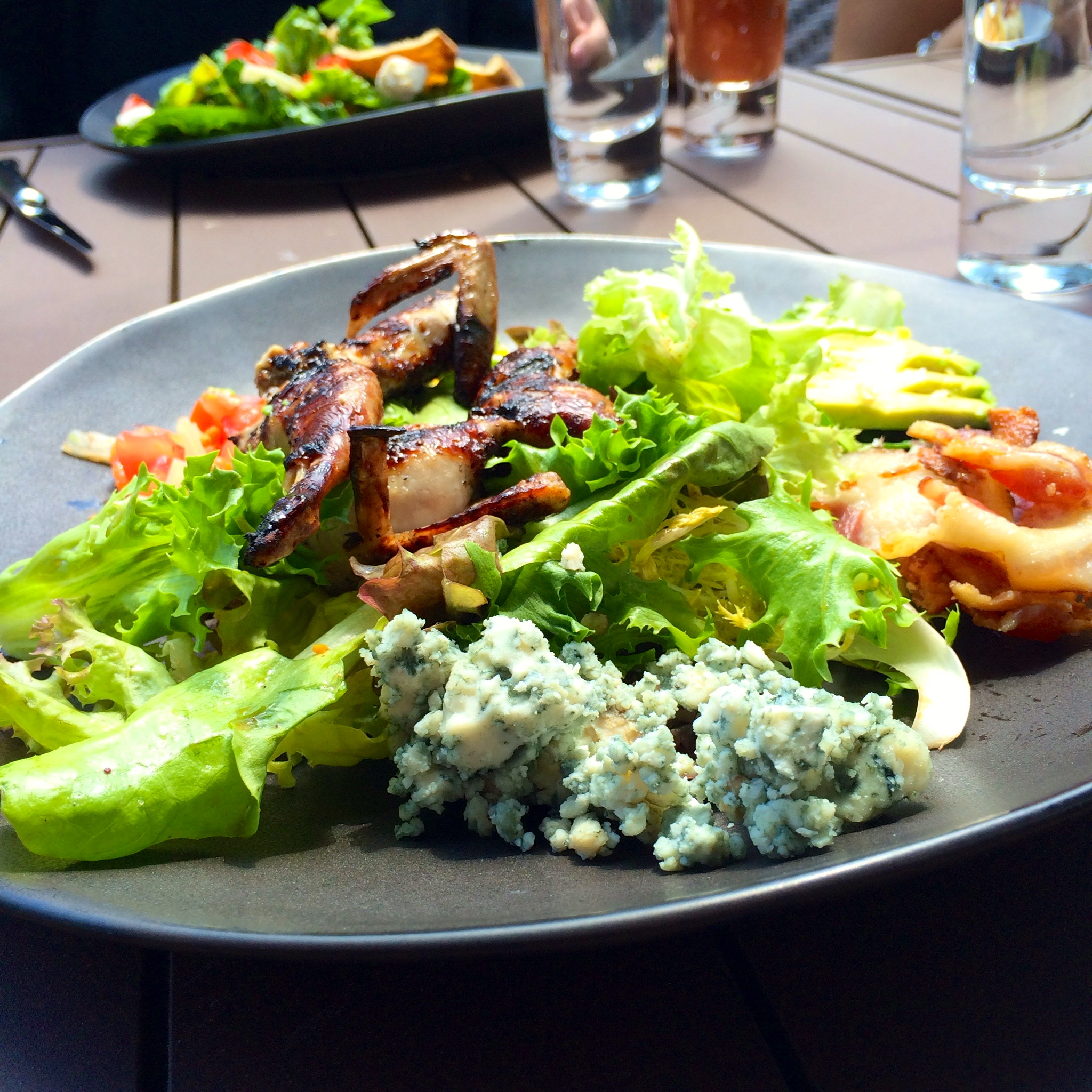 Cobb salad with grilled quail at Tavern on the Green in Central Park.