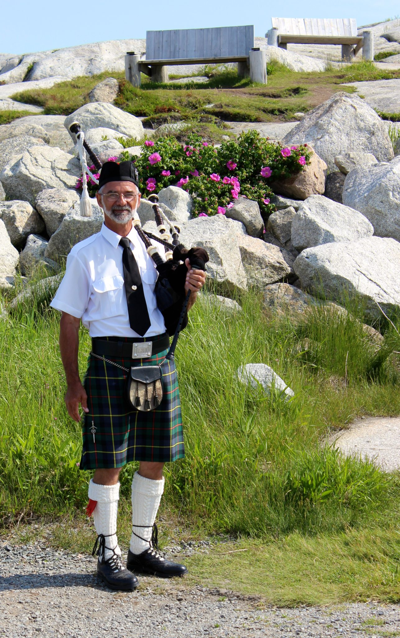 The Bag pipes guy at Peggy's Cove.