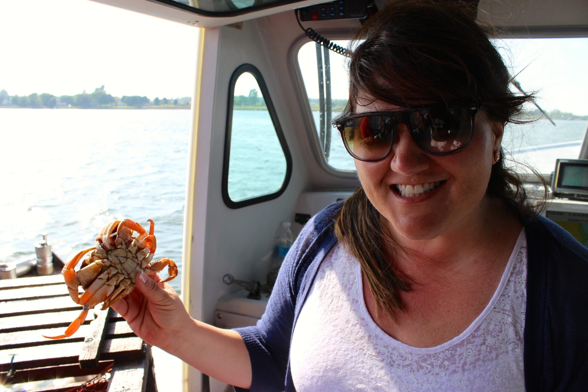 Learning about crab with Top Notch Lobster Tours, PEI.