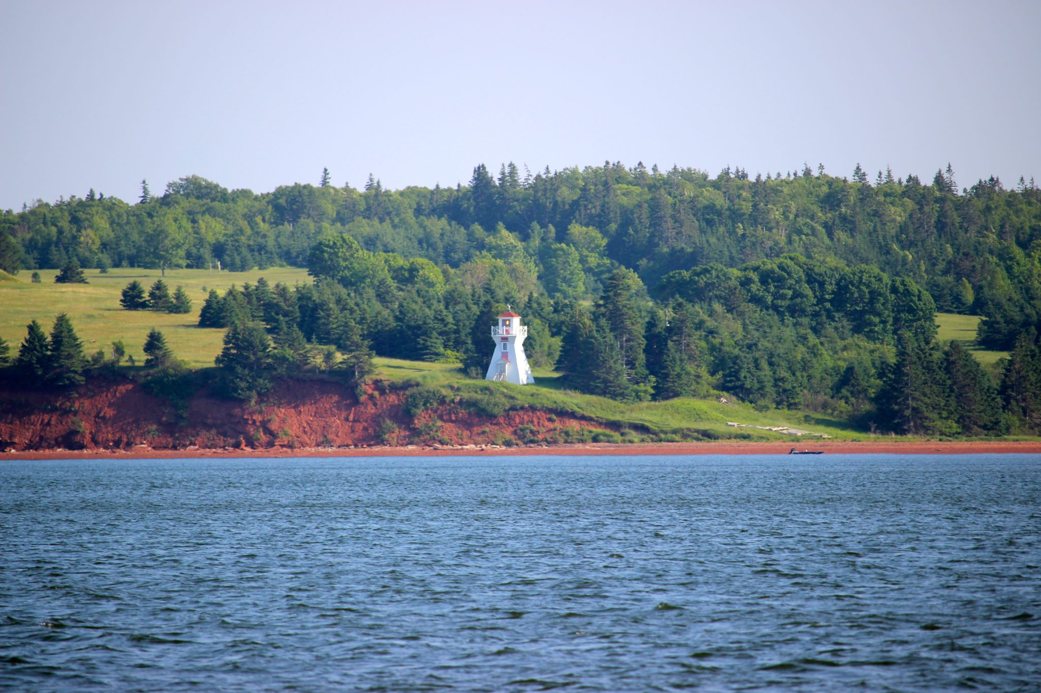 Lighthouse view, Top Notch Lobster Tours, PEI.