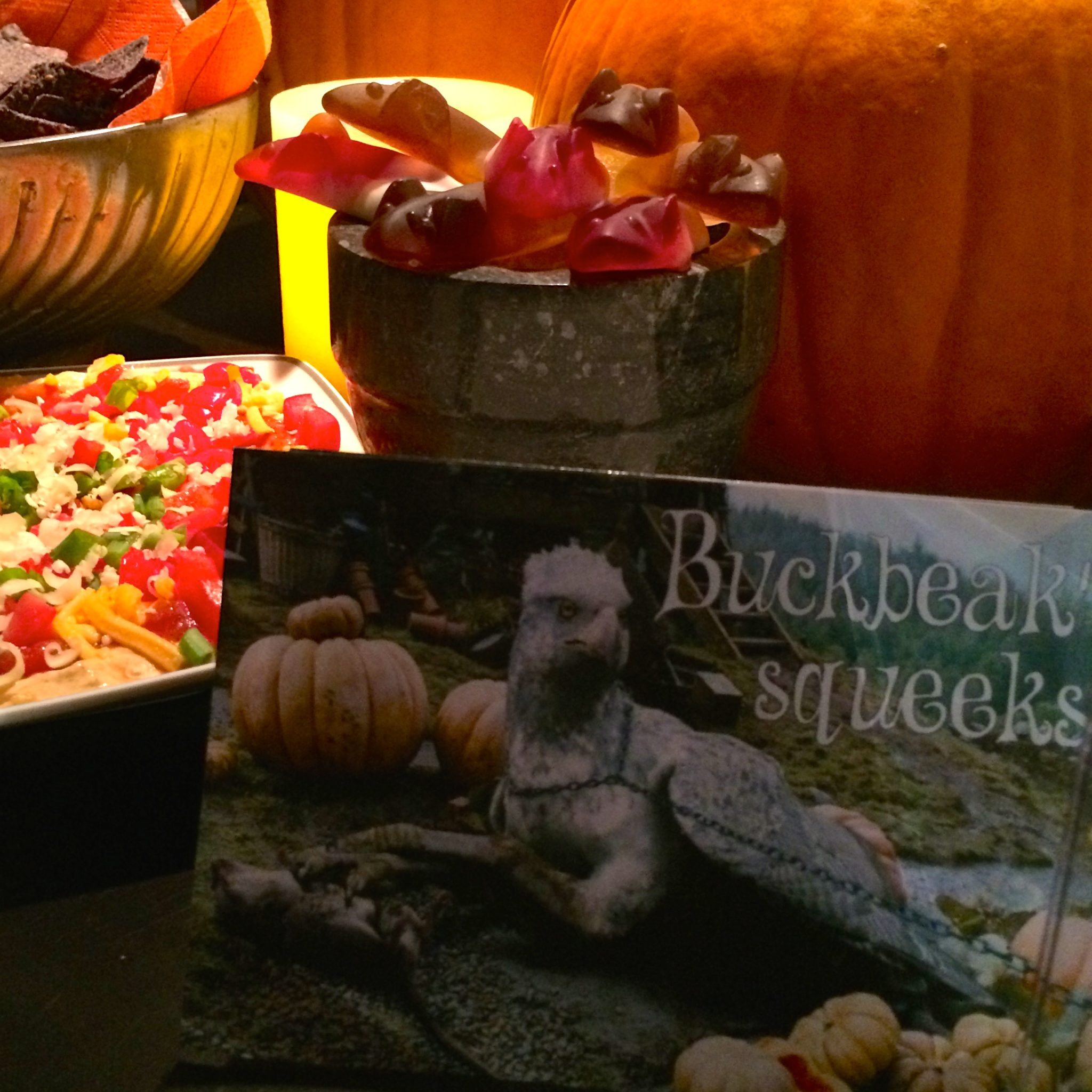A bowl of Buckbeak's squeeks.