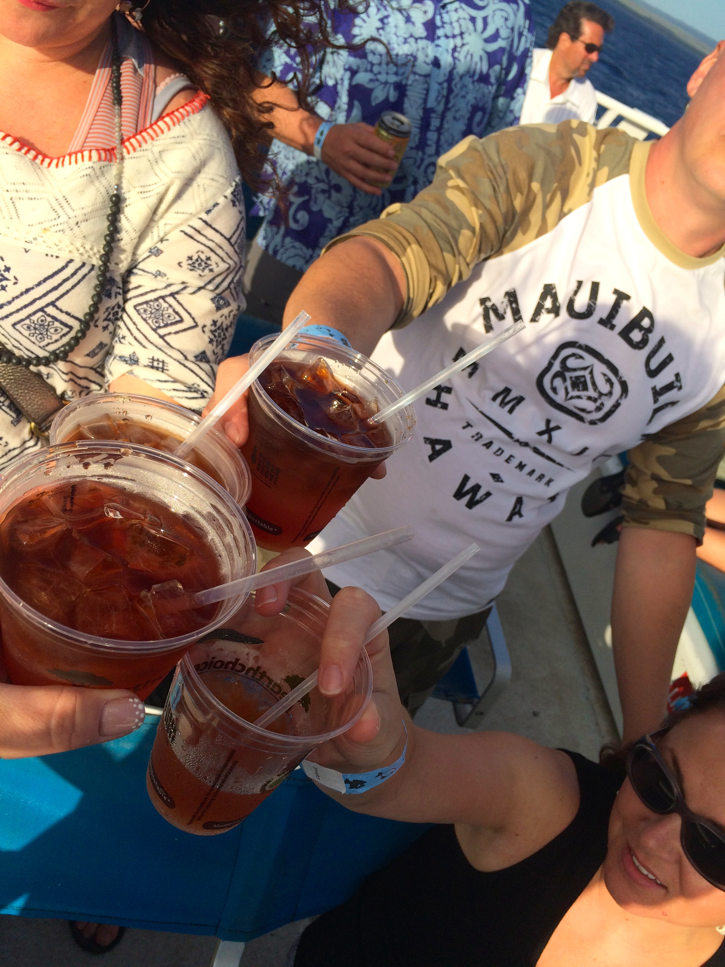 Mai tai's on the Island Rhythms cruise.