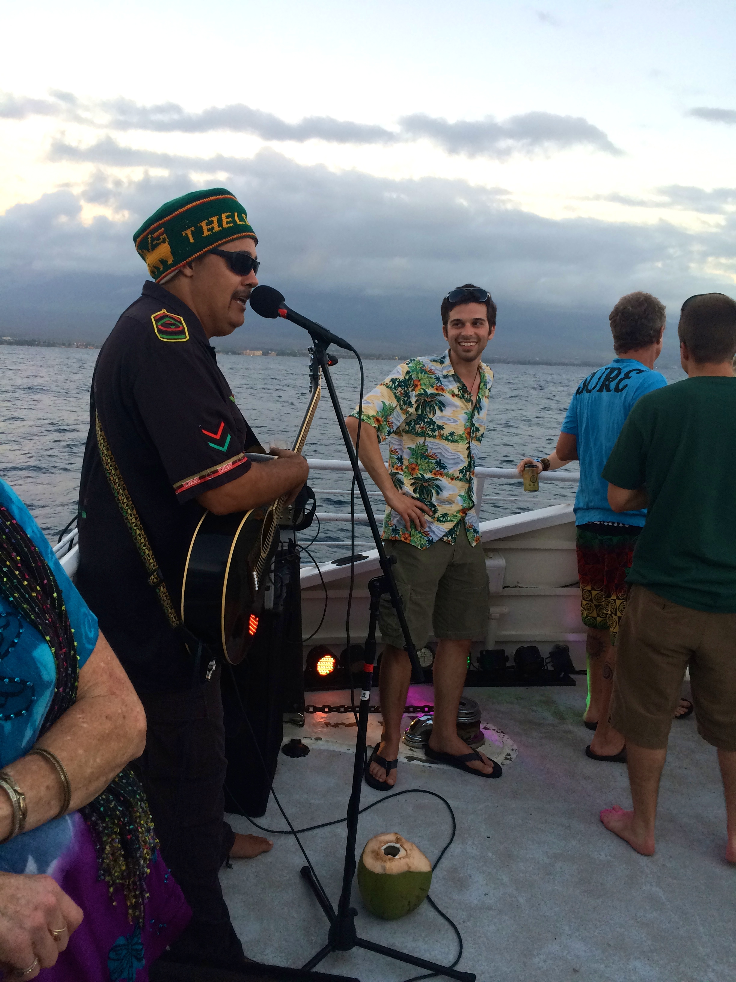 Marty Dread sings on the Island Rhythms cruise.