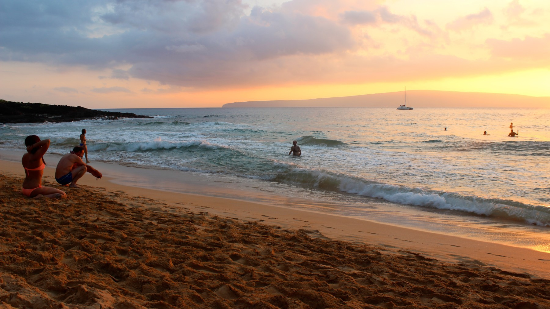 Sunset at Little Beach, Makena, Maui, Hawaii