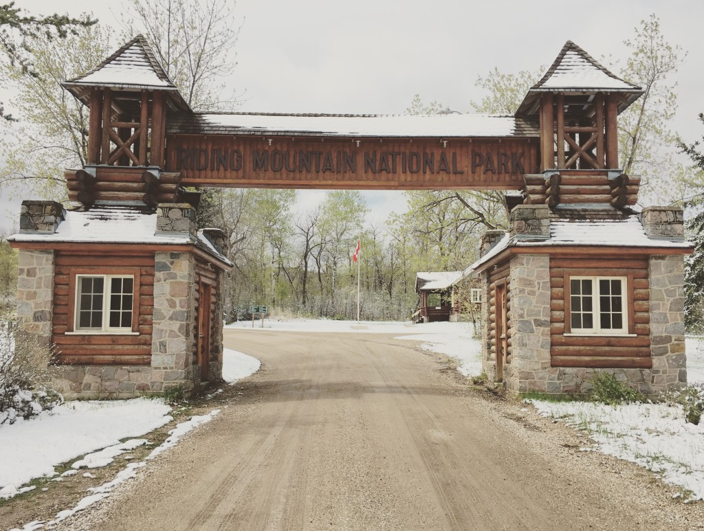 The famous East Gate, Riding Mountain National Park